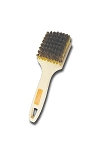 Brass Tire Brush W/ Foam Plastic Handle 8